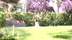 Lazy summer day little girl Stock Footage