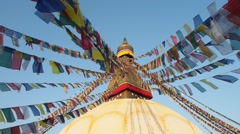 Boudhanath Stupa, Kathmandu, Nepal Stock Footage
