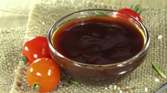 Portion of bbq sauce (seamless loopable) Stock Footage