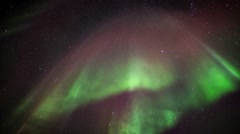 Beautiful Aurora Borealis / Northern Lights Stock Footage