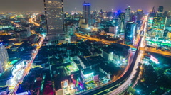 4k timelapse cityscape in middle of Bangkok Stock Footage