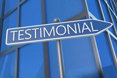 testimonial - stock illustration