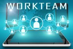 Workteam Stock Illustration