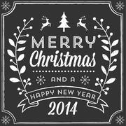 Chalk Christmas Card Stock Illustration