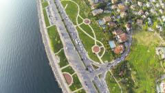 Stock Video Footage of Aerial waterfront view residences in suburbs