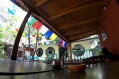 4K. Hotel open air cafe. Kathmandu. Nepal. Ultra HD, 4096x2730 (time lapse) Stock Footage