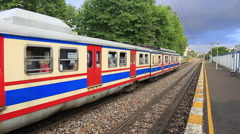 Haydarpasa - Gebze train leaves the station Stock Footage