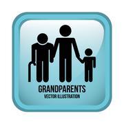 Stock Illustration of grandparents design , vector illustration
