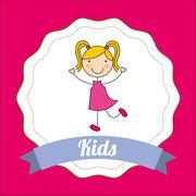 Children design , vector illustration Stock Illustration