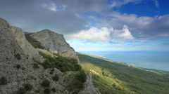 4K. Movement of the clouds on the mountain Merdven-Kayasy. Crimea, Russia Stock Footage