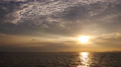 Sunset Over Ocean Real time - stock footage