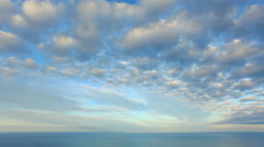 4K. Cloudy sky over the sea (Time Lapse). Ultra HD, 4096x2304. Stock Footage