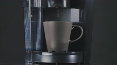 Coffee machine dripping coffee Stock Footage