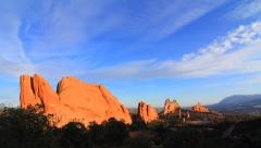Garden of the Gods Clouds Shadow Colorado Rocky Mountains Nature Timelapse Stock Footage