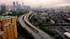 Diorama Tilt Shift Miniature Highway In Kuala Lumpur Stock Footage