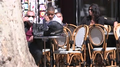 CAFE PEOPLE, AIX EN PROVENCE, FRANCE Stock Footage