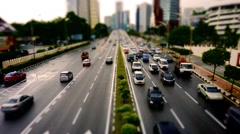 Diorama Tilt Shift Miniature Traffic Jalan TunRazak 01 Stock Footage