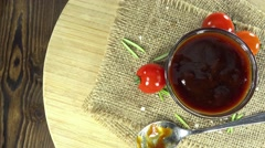 Bbq sauce (seamless loopable) Stock Footage