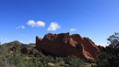 Kissing Camels Garden of the Gods Colorado Rocky Mountains Summer Timelapse Stock Footage