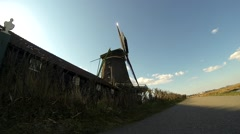Dutch Windmill in Zaanse Schans Stock Footage