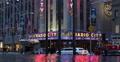 Luxury Limousine Ride Car Traffic Radio City Music Hall New York City Night View Footage