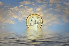 resurrection of the euro - stock photo
