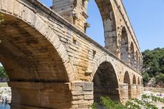 Pont du gard - france Stock Photos