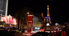 Las Vegas Commuters Commuting Cars Passing Traffic Jam Congestion Night Evening Stock Footage