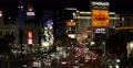 Iconic Las Vegas Strip Neon Signs Nightlife Sightseeing Landmark Night Lights US Footage
