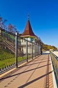 Promenade along the state residence of the russian federation. city pionersky Stock Photos