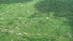 Aerial view at green savanna on summer season. Tanzania, Africa Stock Footage