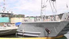 LCU 2033 Paulus Hook Lies In Harbor Stock Footage