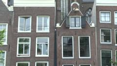 Crooked houses in Amsterdam, Netherlands. Stock Footage