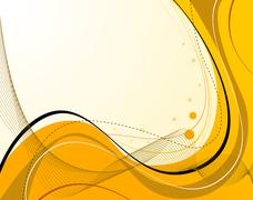 Yellow abstract composition - stock illustration