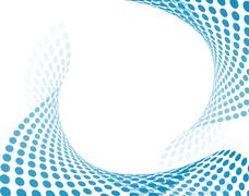 Blue abstract composition Stock Illustration