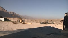Afghan Soldiers Pack Of Grenades D-30 Field Artillery Stock Footage