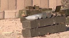 Afghan Soldiers Pack Of Grenades - stock footage
