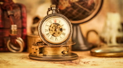 Vintage pocket watch Stock Footage