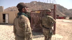 ISAF And Afghan Soldier Camp Stock Footage