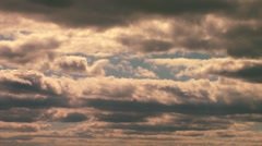 Storm Clouds float by Stock Footage