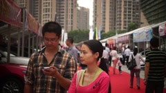 The automobile exhibition sales, in Shenzhen, China Stock Footage