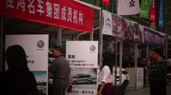 The automobile exhibition sales, in Shenzhen, China - stock footage