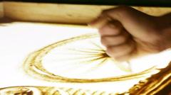 Drawing sand Ferris wheels Stock Footage