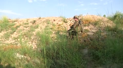 US Soldier At Patrol Stock Footage