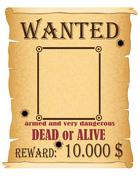 Stock Illustration of announcement wanted criminal poster illustration
