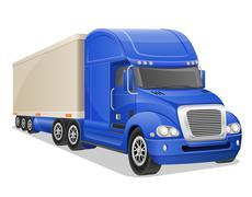 Big blue truck illustration Stock Illustration