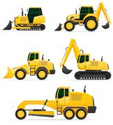 car equipment for construction work illustration - stock illustration