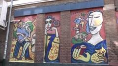 Street art by Fabrice Hünd (Fabrice Hund), Amsterdam, Netherl Stock Footage