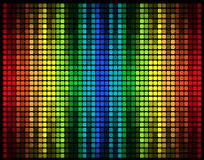 abstract multicolored graphic equalizer illustration - stock illustration