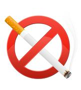 Sign prohibiting smoking illustration Stock Illustration